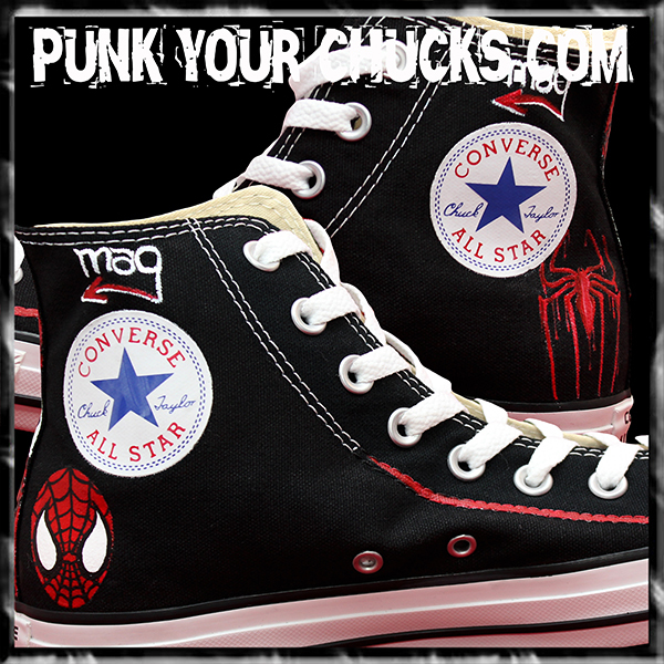 Spiderman Design 3 High Chucks insides