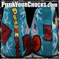 Dragon Ball Z high Chucks DESIGN 2 spine