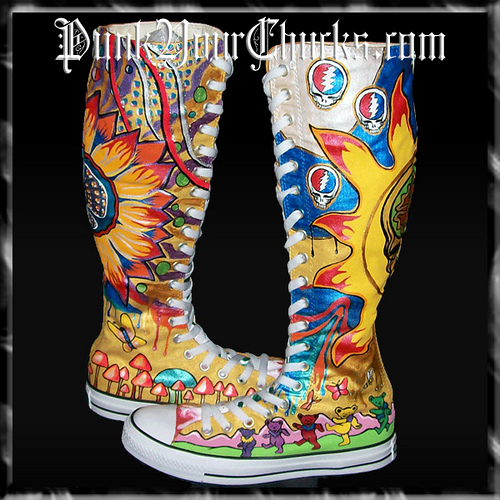 Grateful Dead KNEEHIGH Chucks main 1
