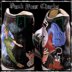 Peter Pan high Chucks spines