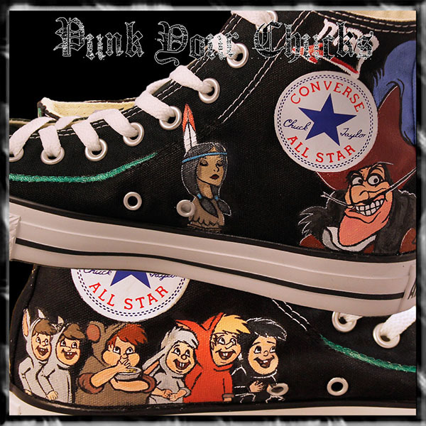 Peter Pan high Chucks insides