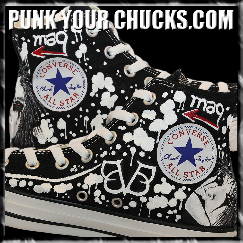 Black Veiled Brides High Chucks insides.