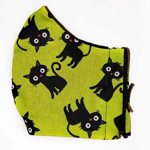 Halloween - Black Cats on Green