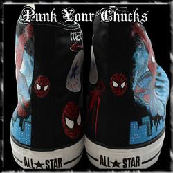 Spiderman Design 2 High Chucks spines