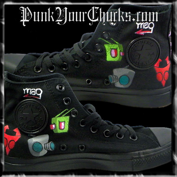 Invader Zim High Chucks insides
