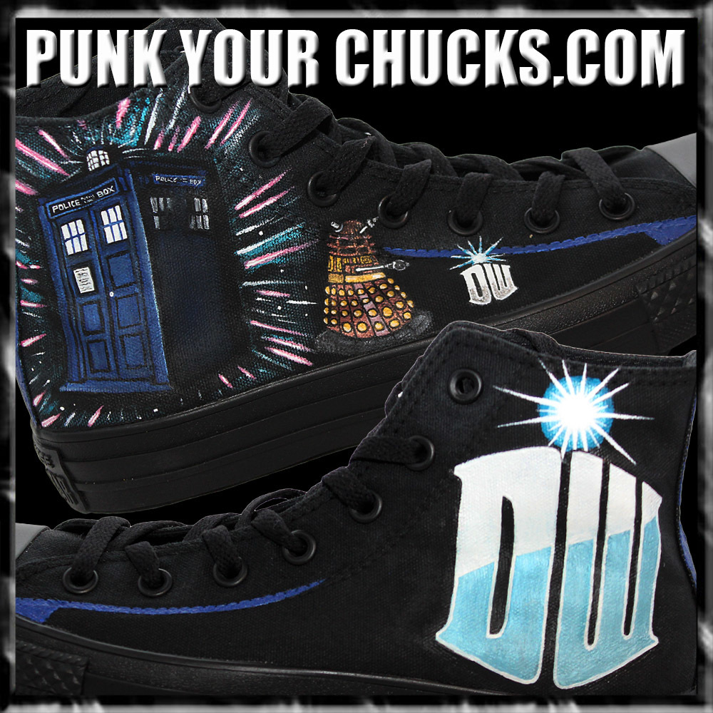 Doctor Who phonebooth high Chucks Main 2