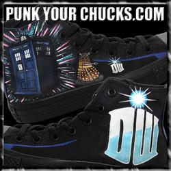 Doctor Who phonebooth high Chucks Main 2