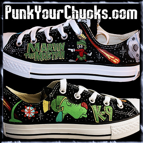 Marvin the Martian Custom Converse Sneakers