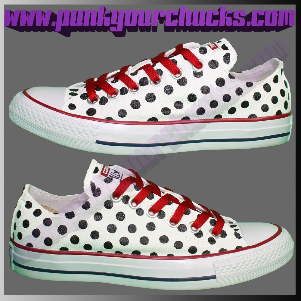 Polka Dot white Low Chucks main