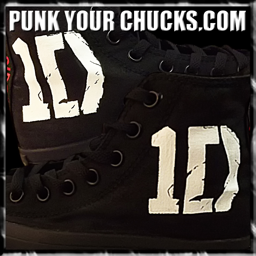 1D band black mono high Chucks Main 2
