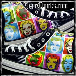 Marilyn Monroe Andy Warhol High Chucks M