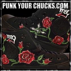 Roses Cross high Chucks insides