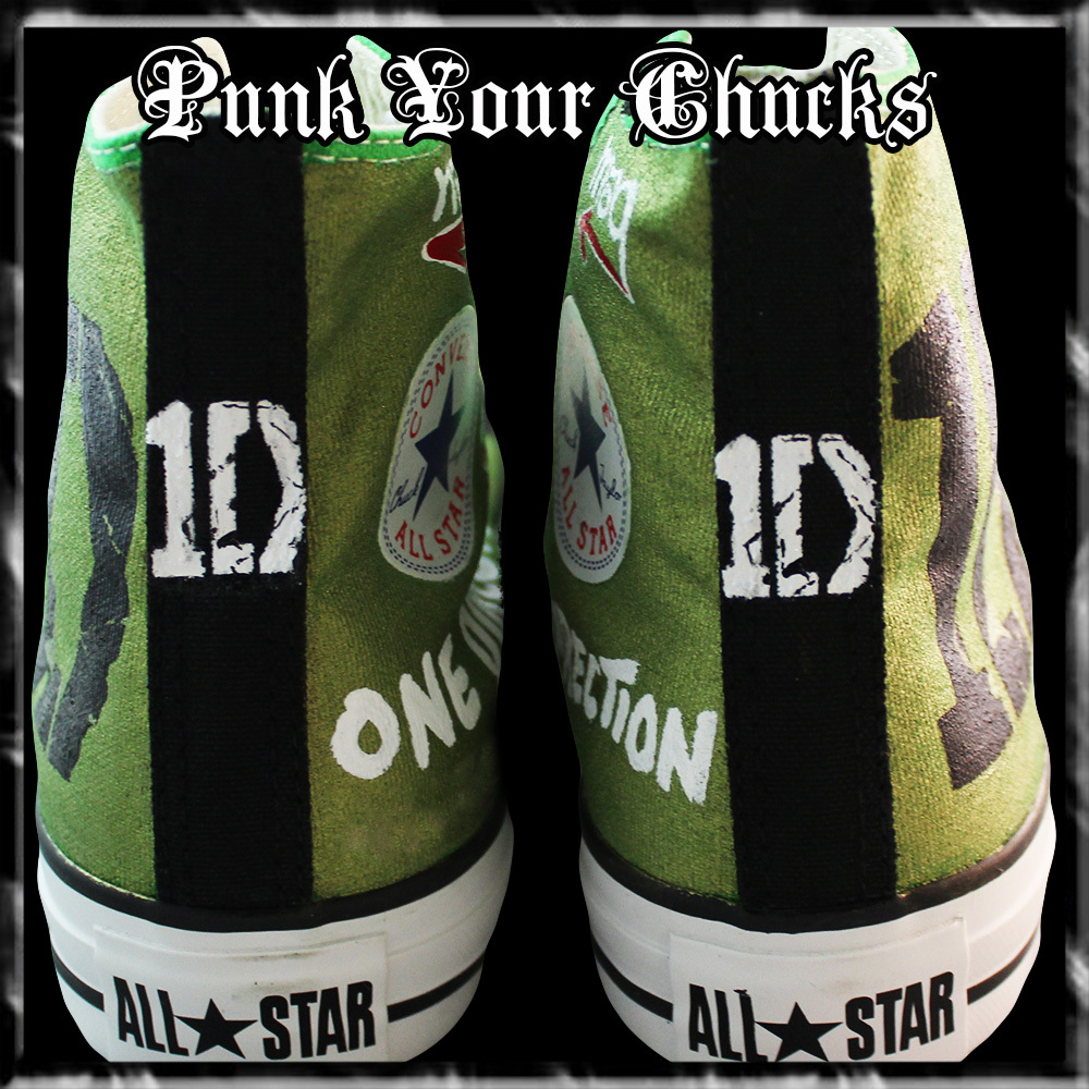 1D band Green high Chucks spines