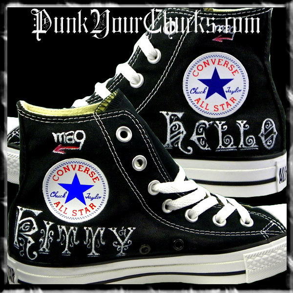 Hello Kitty High Chucks PUNK insides