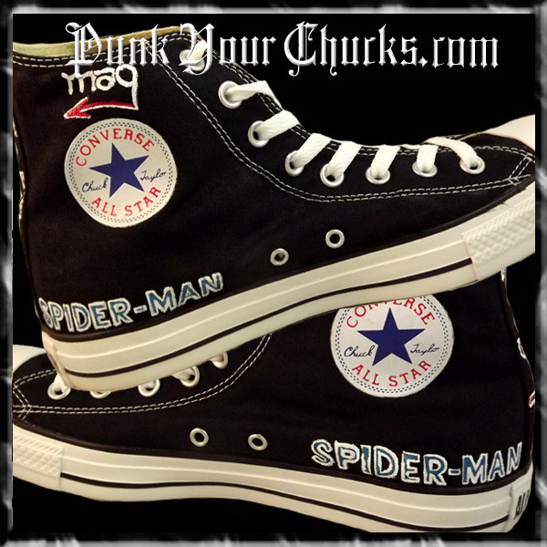 Spiderman Design 1 High Chucks insides