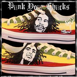 Bob Marley Low Chucks Design 3