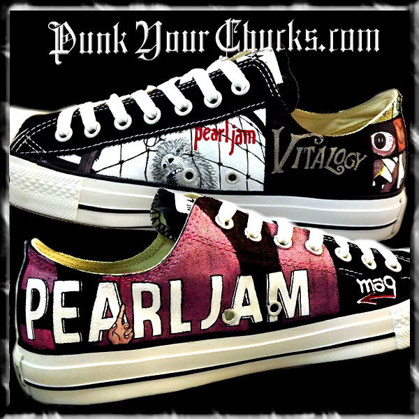 Pearl Jam montage Low Chucks insides