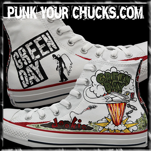 Green Day WHITE DOOKIE High Chucks main.