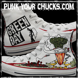 Green Day WHITE DOOKIE High Chucks main.