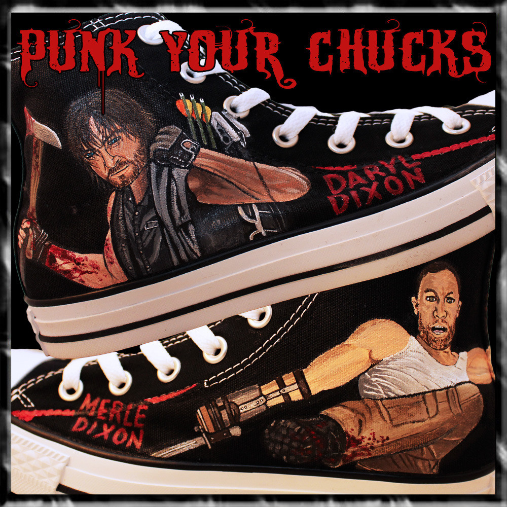 The Walking Dead High Chucks MAIN