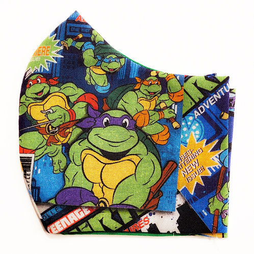 Teenage Mutant Ninja Turtles Cotton Face Mask w/Elastic