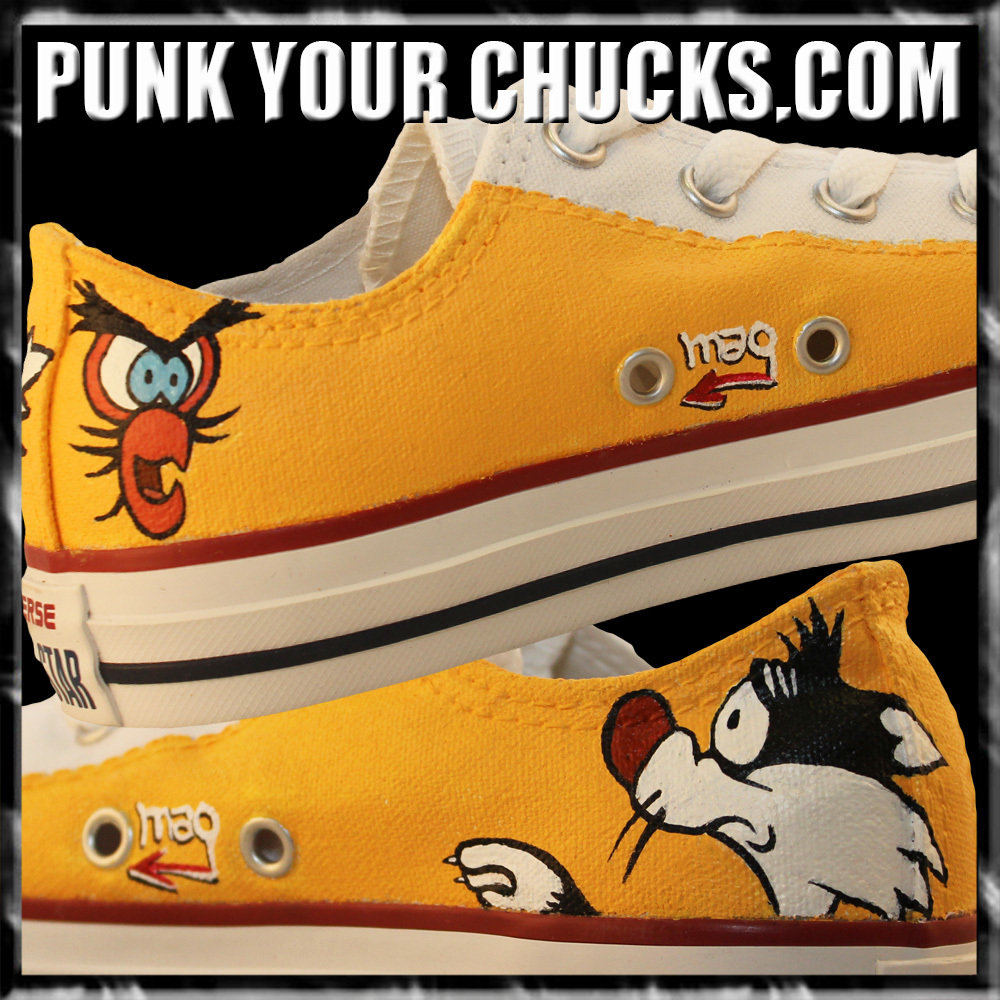 Sylvester and Tweety Low Chucks insides.