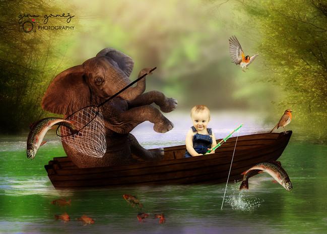 Elephant Fishing