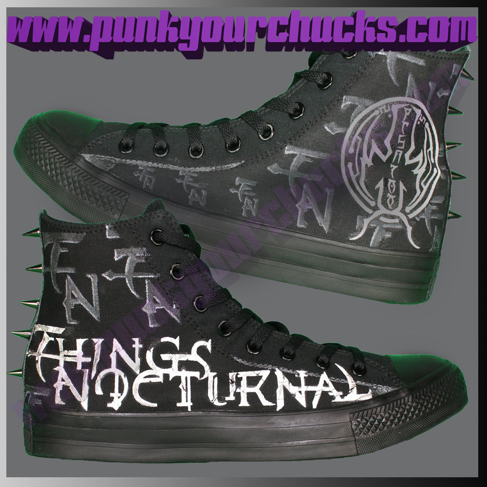 Heavy Metal High Chucks with SPIKES MAIN