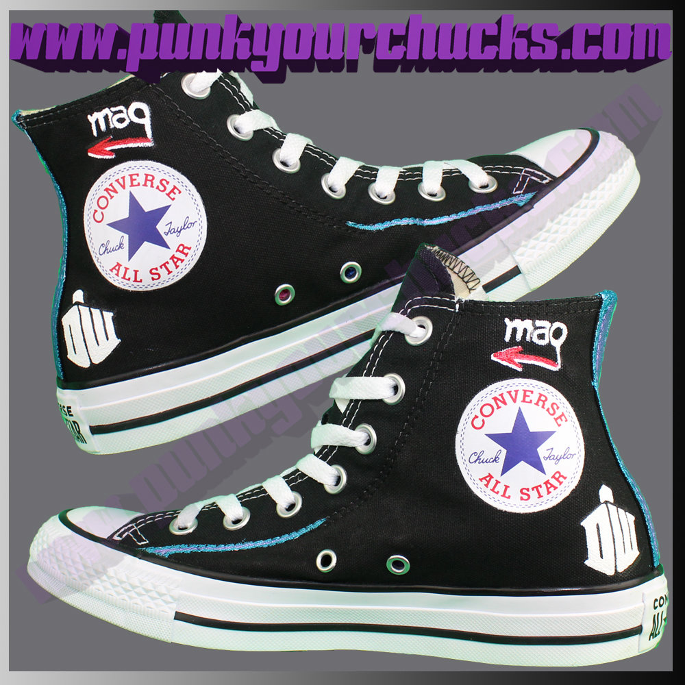Doctor Who high Chucks DESIGN 3 insides.