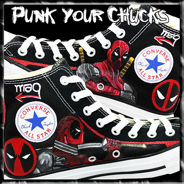 Deadpool Design 3 high chucks insides