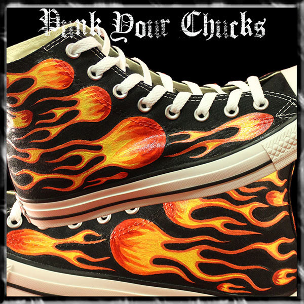 Biker Flames High Chucks main