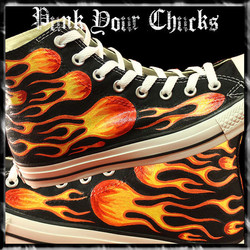Biker Flames High Chucks main