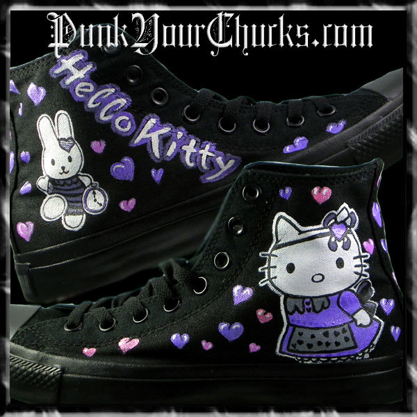 Hello Kitty High Chucks purple main larg