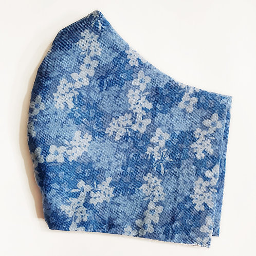 Blue Abstract Floral