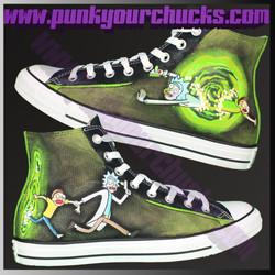 Rick and Morty high chucks main