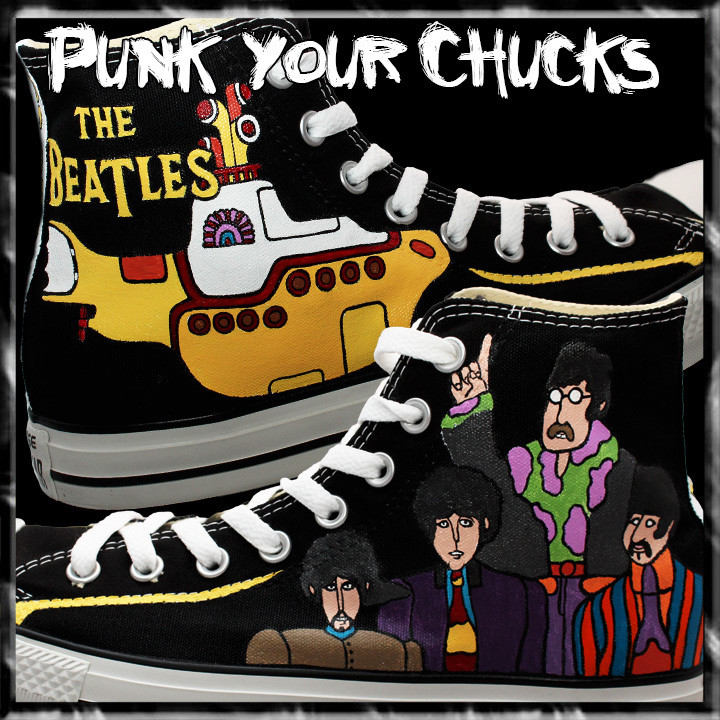 Beatles Yellow Sub High Chucks Main