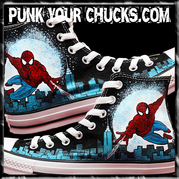 Spiderman Design 3 High Chucks MAIN