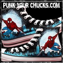 Spiderman Design 3 High Chucks MAIN
