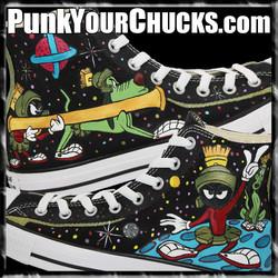 Marvin the Martian High Chucks Design 1
