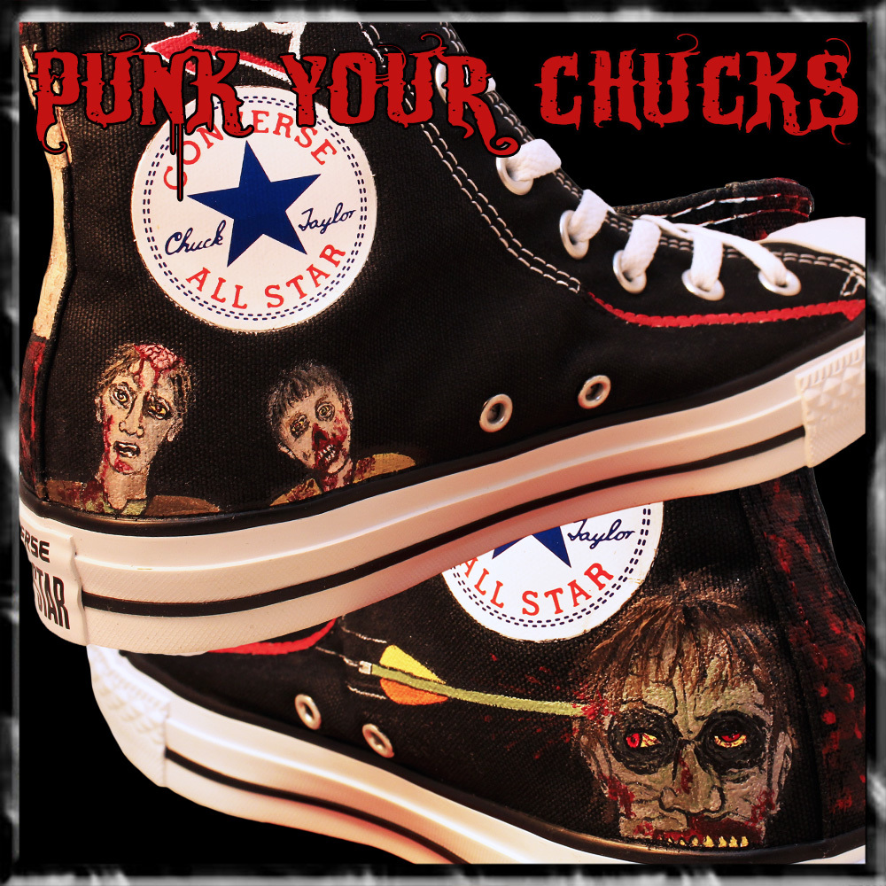 The Walking Dead High Chucks insides