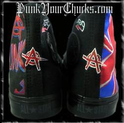 British Punk high Chucks spines