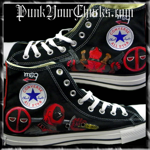 Deadpool Design 2 high chucks insides