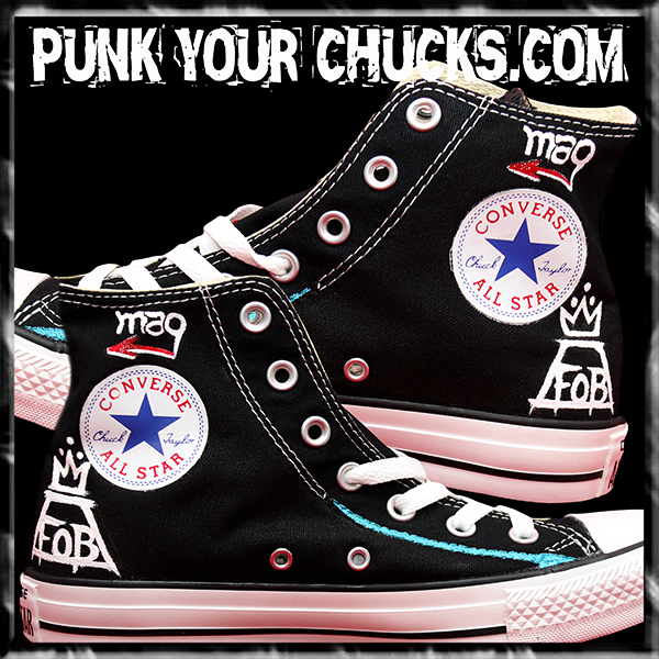 Fall Out Boy Skeleton high Chucks inside