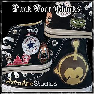ASTRO APE Custom Converse Sneakers