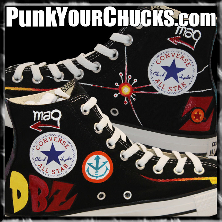 Dragon Ball Z high Chucks insides
