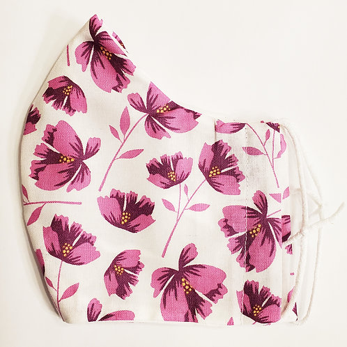 Purple Floral on White