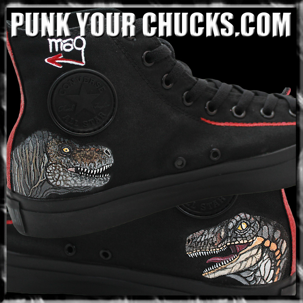 Jurassic Park High Chucks inside