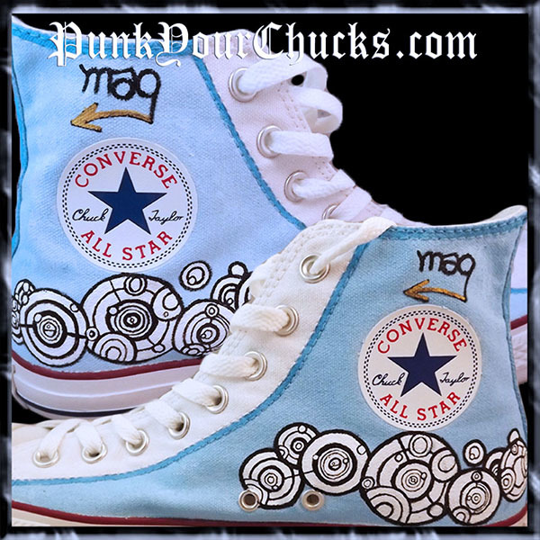 Doctor Who high Chucks insides