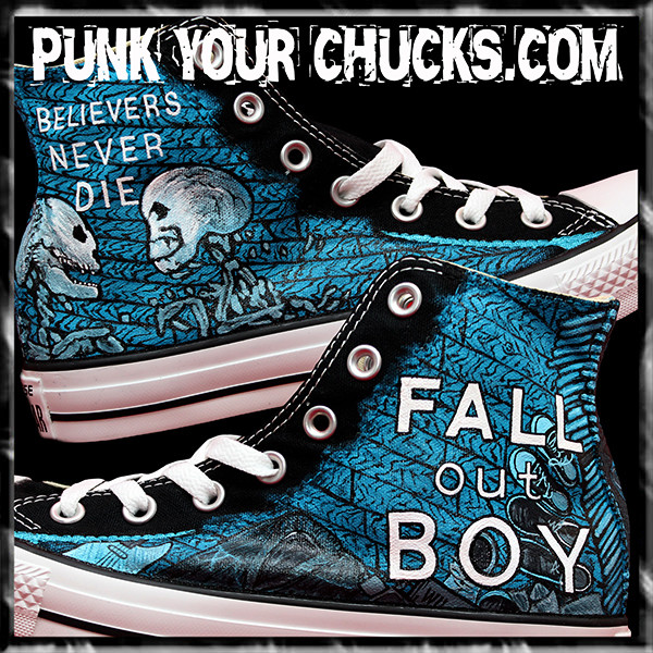 Fall Out Boy Skeleton high Chucks main