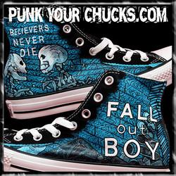 Fall Out Boy Skeleton high Chucks main